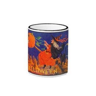 Vintage Halloween Witch Ringer Mug