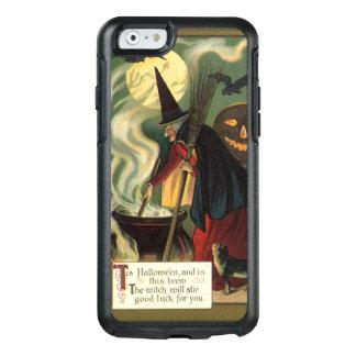 Vintage Halloween Witch Stirring Magic Cauldron OtterBox iPhone 6/6s Case