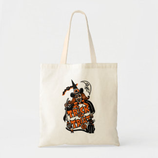 Vintage Halloween Witch Trick or Treat Budget Tote Bag