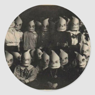 Vintage halloween's costumes photo in Ireland Round Sticker