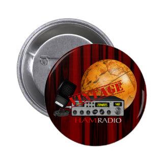 Vintage Ham radio Pinback Button