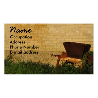Vintage Hand Cart against a Country Brick Wall Pack Of Standard Business Cards