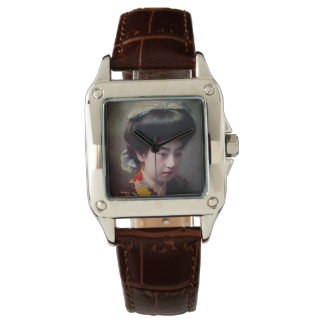 Vintage Hand Colored Japanese Geisha Old Japan Watches