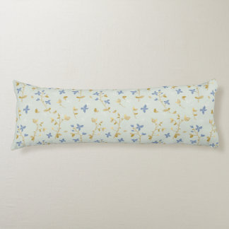 Vintage Hand Drawn Floral Body Pillow