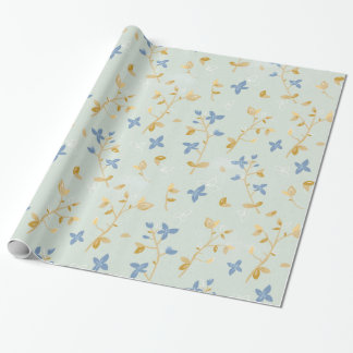 Vintage Hand Drawn Floral Wrapping Paper
