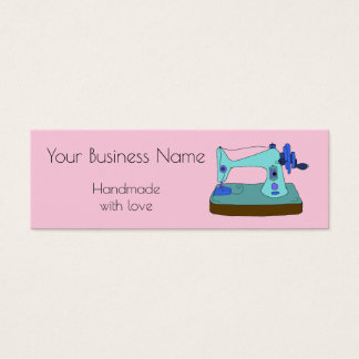 Vintage hand sewing machine customisable mini business card