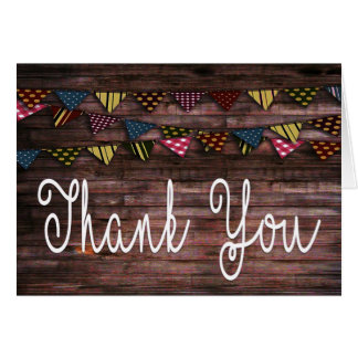 Vintage Hand Writing Thank You Card