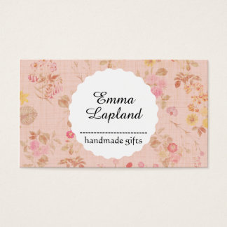 Vintage handmade gift business card