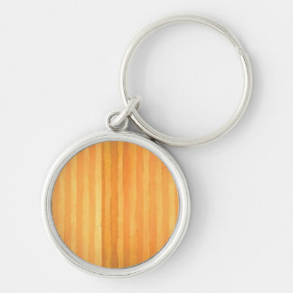 Vintage Handmade Golden Stripes - color match Silver-Colored Round Key Ring