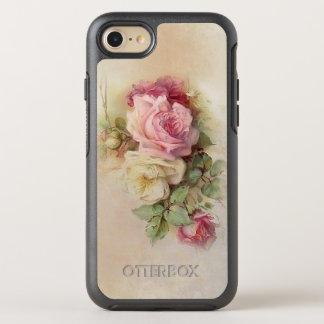 Vintage Handpainted Style Roses OtterBox Symmetry iPhone 8/7 Case