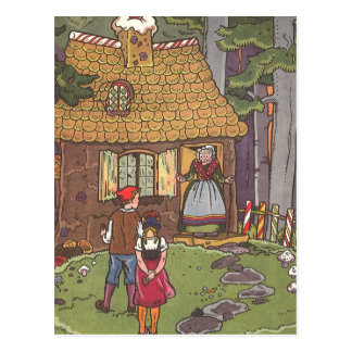 Vintage Hansel and Gretel Fairy Tale by Hauman Post Card