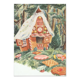 Vintage Hansel and Gretel Housewarming Party 11 Cm X 16 Cm Invitation Card