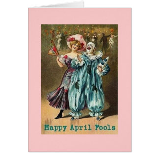 Vintage Happy April Fools Day Greeting Card