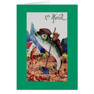 Vintage Happy April Fools Day Fish Cards