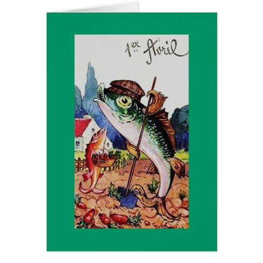 Vintage Happy April Fools Day Fish Card