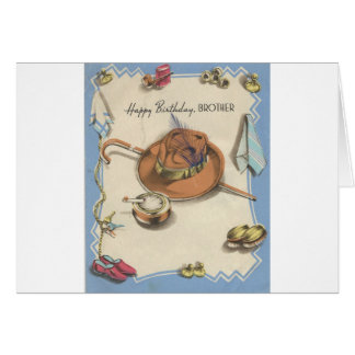 Vintage Happy Birthday Brother Dapper Details Card