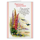 Vintage Happy Birthday card