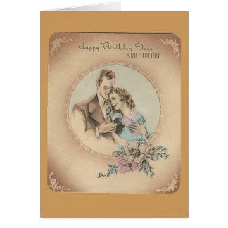 "Vintage Happy Birthday Sweetheart ""Mario"" Card"