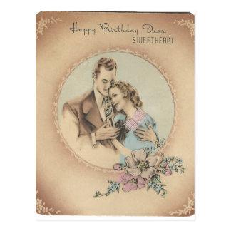 "Vintage Happy Birthday Sweetheart ""Mario"" Postcard"