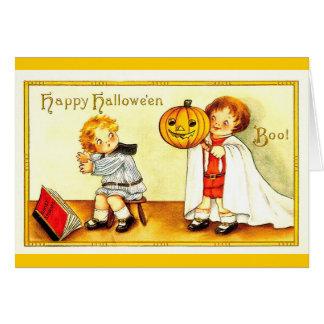 Vintage Happy Halloween Kids Card