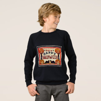 Vintage Happy Halloween Pumpkins Black Cats Sweatshirt