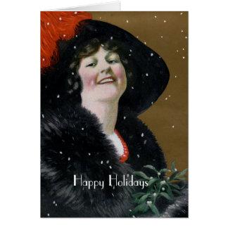 Vintage Happy Holidays Card