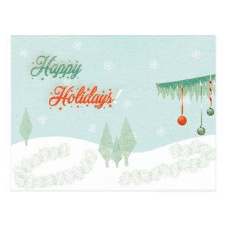 """Vintage """"Happy Holidays!"""" landscape Postcard"""