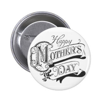 Vintage Happy Mother s Day Button