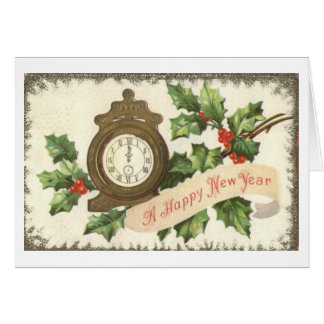 Vintage Happy New Year Greeting Card