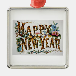 Vintage Happy New Year Ornament