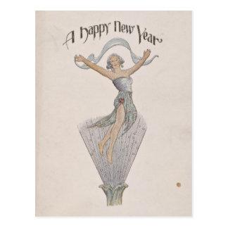 Vintage Happy New Year Postcard