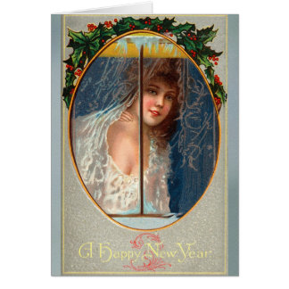 Vintage Happy New Years Greeting Card