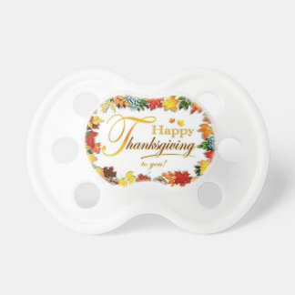 Vintage Happy Thanksgiving Colorful Leaves Dummy