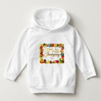 Vintage Happy Thanksgiving Colourful Leaves Hoodie