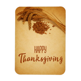 Vintage Happy Thanksgiving Wheat - Flexible Magnet