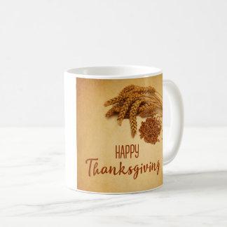 Vintage Happy Thanksgiving Wheat - Mug