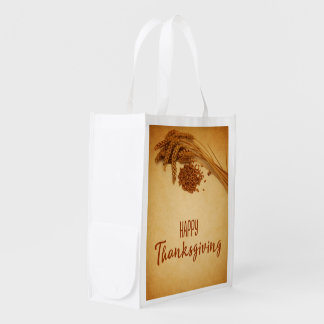 Vintage Happy Thanksgiving Wheat - Reusable Bag
