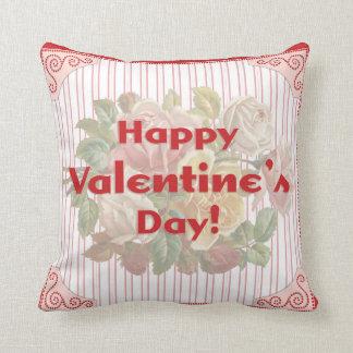 Vintage Happy Valentine's Day Pillow