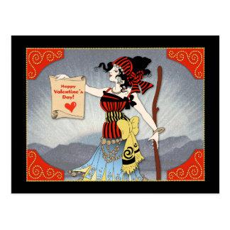 Vintage Happy Valentine's Day Postcard-Dwig Gypsy Postcard