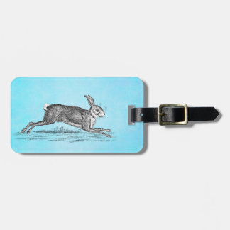 Vintage Hare Bunny Rabbit Illustration - Rabbits Tag For Bags