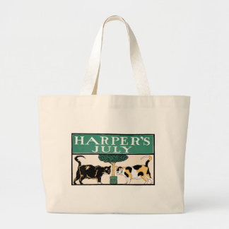 Vintage Harper's July Cats by Edward Penfield Jumbo Tote Bag