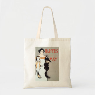 Vintage Harper's May Cats by Edward Penfield Budget Tote Bag
