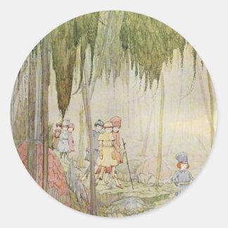 Vintage Harry Clarke Fairytale Round Sticker