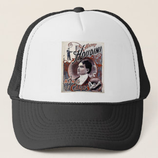 Vintage Harry Houdini King of Cards Advertisement Trucker Hat