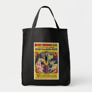 Vintage Harry Houdini Prison Cell & Barrel Mystery Grocery Tote Bag