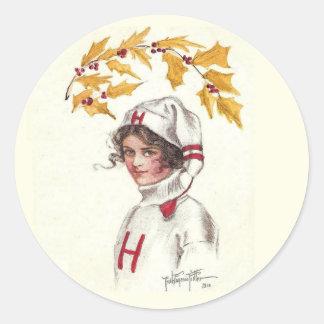 Vintage Harvard Coed Holiday Sticker