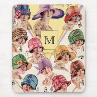 Vintage Hats Custom Monogram mousepad