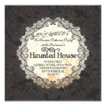 Vintage Haunted House Halloween Costume Party Custom Announcements