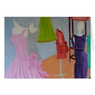 Vintage Haute Couture Paris Card