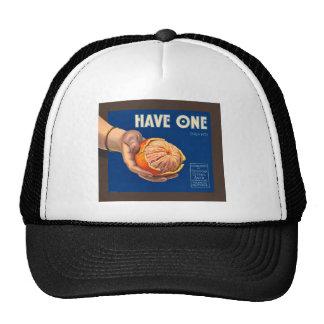 Vintage Have One Brand Sequoia Advertisement Trucker Hats